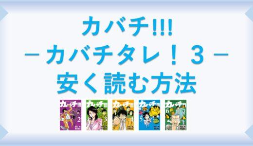 カバチ!!!-カバチタレ!3-(漫画)全巻を1番安く読む方法|単行本が安い電子書籍サービスも
